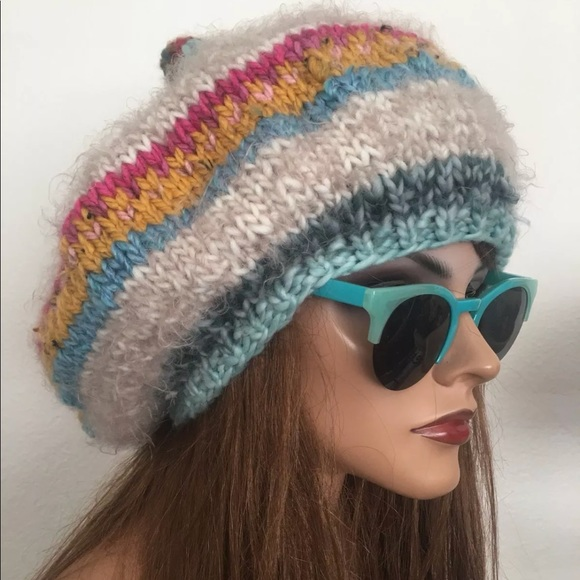 f643a562af4 Hand Knits .2 Love Slouch Hat Pom Pom Hip Fashion